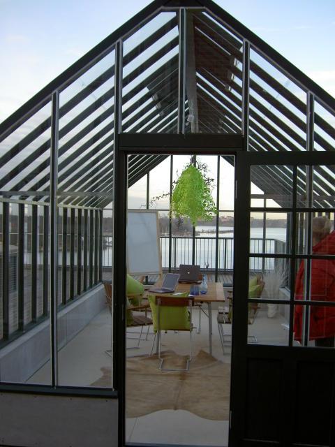 Växthus på altan