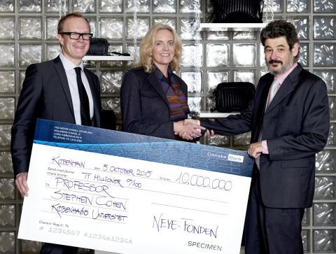 NEYE-Fonden donerer 10 millioner kr. til kampen mod kræft - din lokale NEYE butik har også bidraget