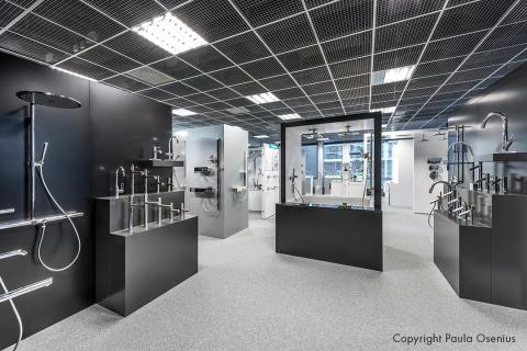 Hansgrohe Suomi uusi showroom avattu Helsingin Arabianrantaan