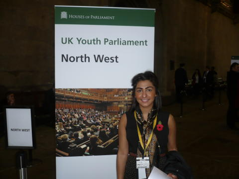 Sana Khan, member of Youth Parliament