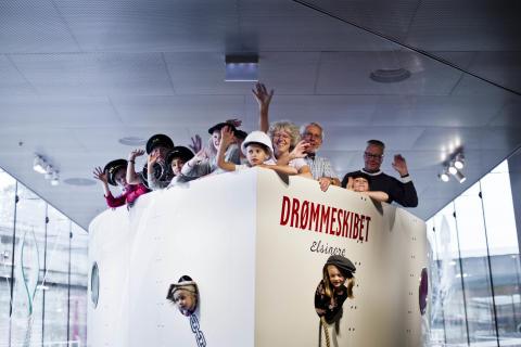 """M/S Museet for Søfarts maritime legeunivers nomineret til Danish Design Award 2020: """"DRØMMESKIBET er inspiration til anderledes, dybere læring på museer""""."""