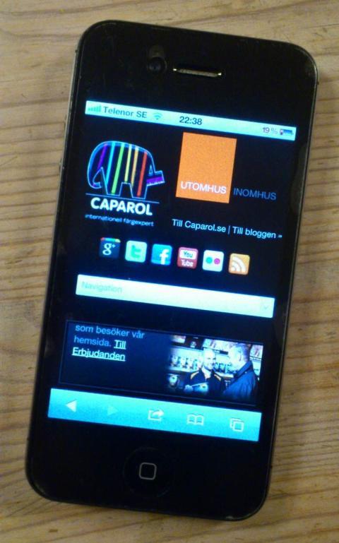 Caparols målarfärg i alla mobiler och läsplattor