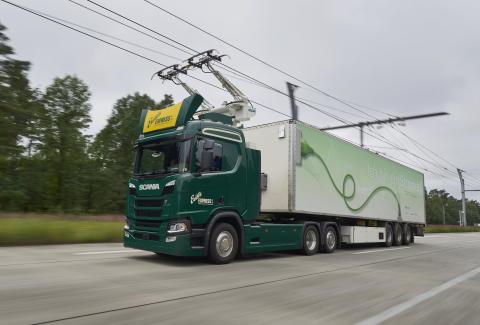 "Scania skal levere lastbiler til udviklingsprojektet ""Trucks for German eHighways"""