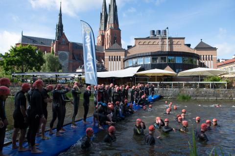 Rekordstor triathlonfest i Uppsala på söndag