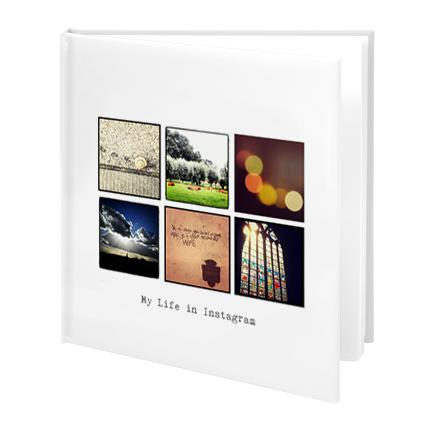 Fotobok med kvadratiska bilder