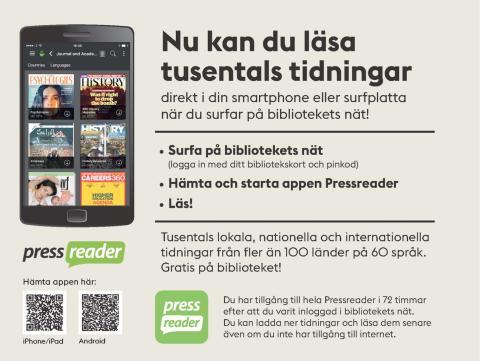 Världens tidningar och tidskrifter i mobilen – gratis med bibliotekskortet