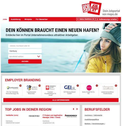 stellenanzeigen.de und die Hamburger Morgenpost: frischer Look und neue Technik für jobs.mopo.de