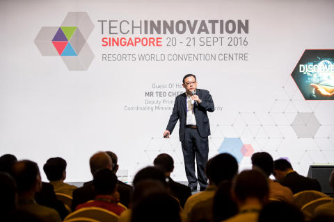 TechInnovation 2016 keynote speaker Mr Xander Sim, Chief Technology Officer, Cell ID Pte Ltd