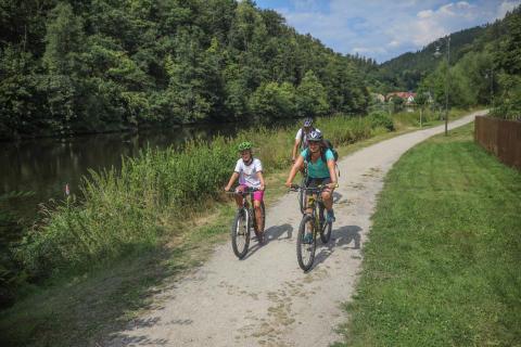 Radfahren am Saaleradweg