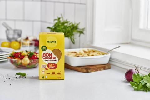 Risentas nya lasagneplattor av sojabönor gör populär maträtt mer hälsosam och glutenfri