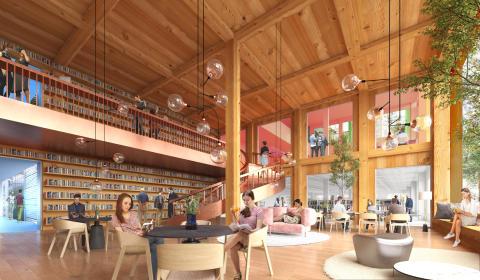 Förslag Utforskaren, arkitekttävling universitetsbiblioteket