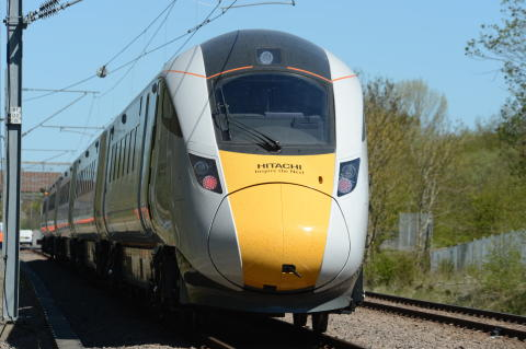 First pre-series Class 800 Hitachi InterCity Express Programme train undergoes dynamic testing