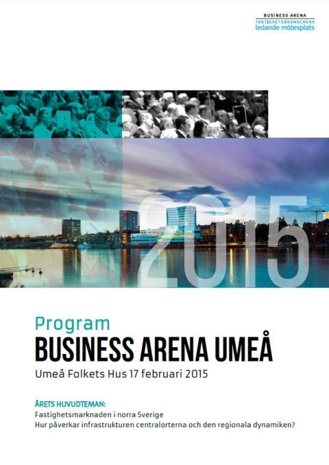 Se programmet för Business Arena Umeå
