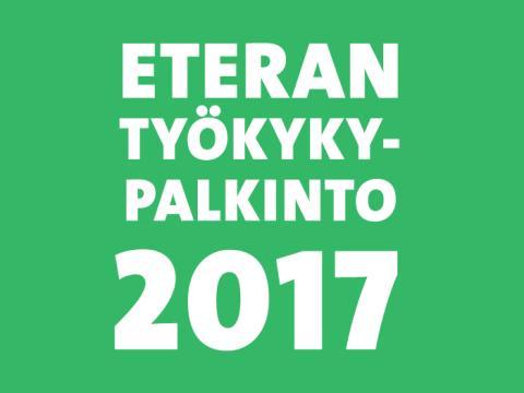 Eteran Työkykypalkintofinalistit 2017 valittu – voittajan valitsee MTV Uutisten Merja Ylä-Anttila