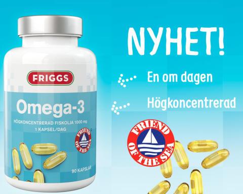 Hållbart producerad, högkoncentrerad Omega-3 - fiskolja med gott samvete från Friggs