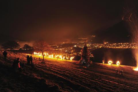 Funkensonntag in Balzers-Liechtenstein