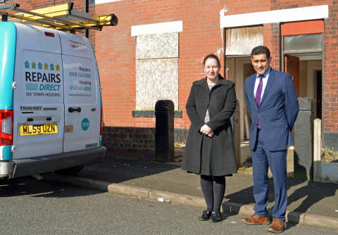 Derelict properties brought back into use