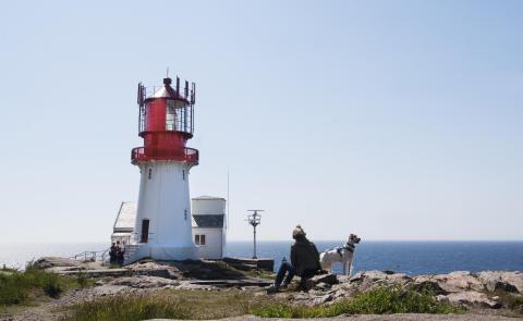Der Leuchtturm Lindesnes Fyr markiert Norwegens südlichsten Punkt