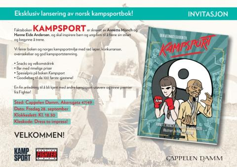 Vekommen til boklansering: Kampsport