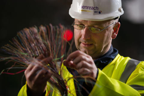 Engineer Alistair McGowan at work in Scotstoun, Glasgow