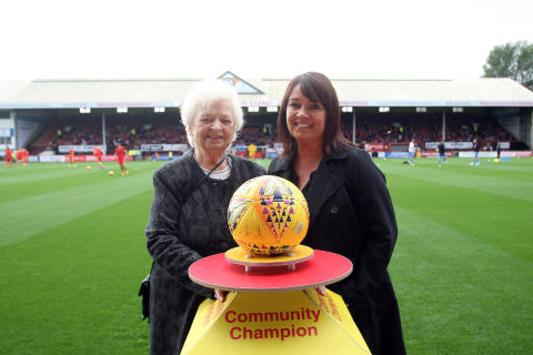 ng homes Board Member recognised by Scottish Premier League football club
