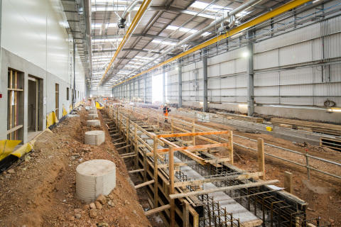 Hitachi Rail Europe celebrates topping out at new Stoke Gifford Train Maintenance Centre