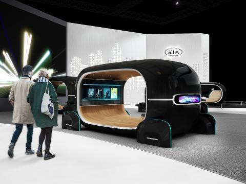 Kia Motors viser ny teknologi på Consumer Electronics Show (CES) 2019.