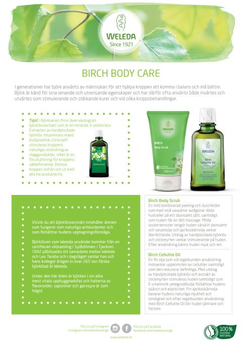 Samlingsblad Birch Body Care