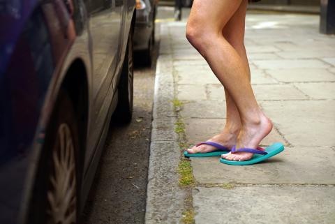 Klip-klappere på stranden – ikke i bilen