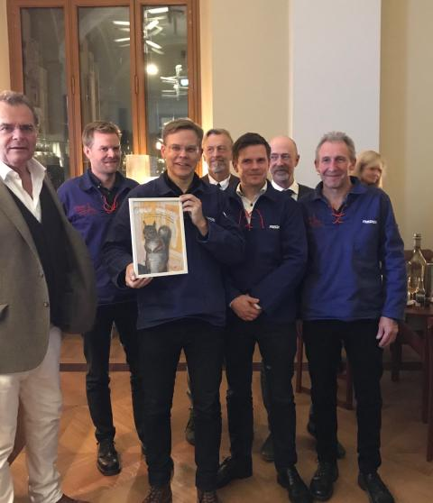 2018-års guldnubbe till Kyrkeby bränneri.