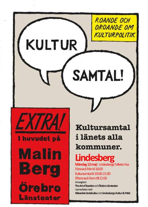 Programmet klart för Kultursamtal i Lindesberg