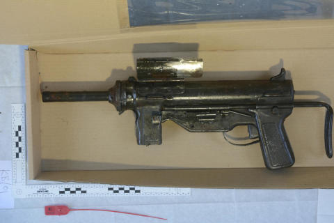 Officers seize viable WWII sub machine gun following open land search in Fazakerley