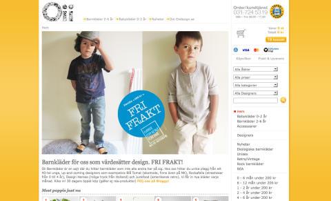 Onlinebutik med unika barnkläder växer med 90% under lågkonjukturen
