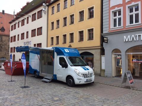 Beratungsmobil der Unabhängigen Patientenberatung kommt am 6. April nach Ansbach.