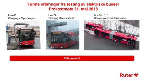 Erfaringer fra testing av elektriske busser