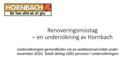 Diagram, renoveringsundersökning, Hornbach