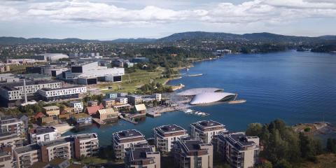 Das Gelände des früheren Osloer Flughafens Fornebu wird eine der Attraktionen der Stadt.