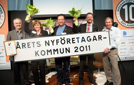 Årets Nyföretagarkommun 2012, de nominerade kommunerna