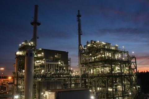 AGAs nya vätgasanläggning i finska Borgå