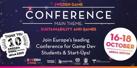 Flera företag från Science Park Skövde ställer ut vid Sweden Game Conference 2019