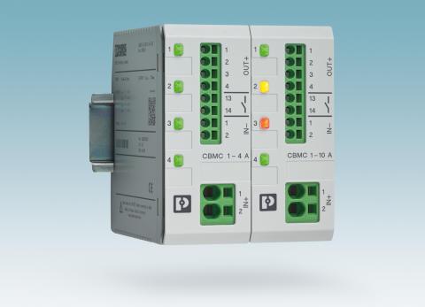 Kompakt 4-kanalig justerbar säkringsmodul för 24VDC