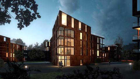 Bostadsbygget vid Gideonsbergsskolan har påbörjats