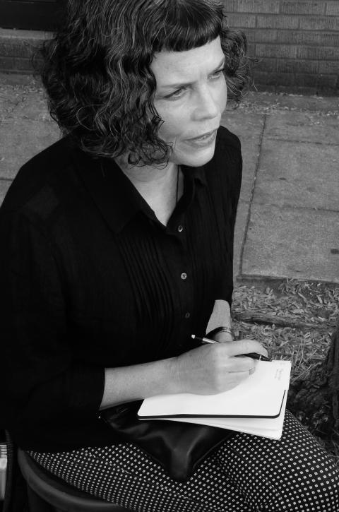 Lori Talcott i Stockholm för utställning på PLATINA