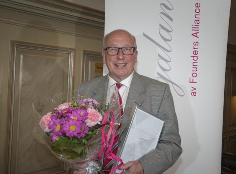 Entreprenörsprofilen Hilding Holmqvist utsedd till Årets Förebildsentreprenör av Founders Alliance
