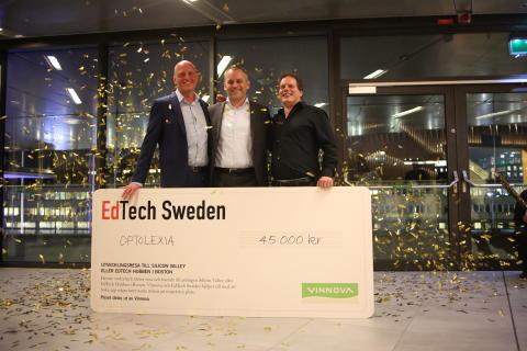 Optolexia, vinnare i Edtech Startup Award 2016