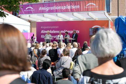 Migrationsplatsen – centrum för en av valårets hetaste