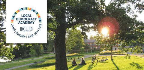 Unik konferens om lokal demokrati i Umeå 10-14 juni