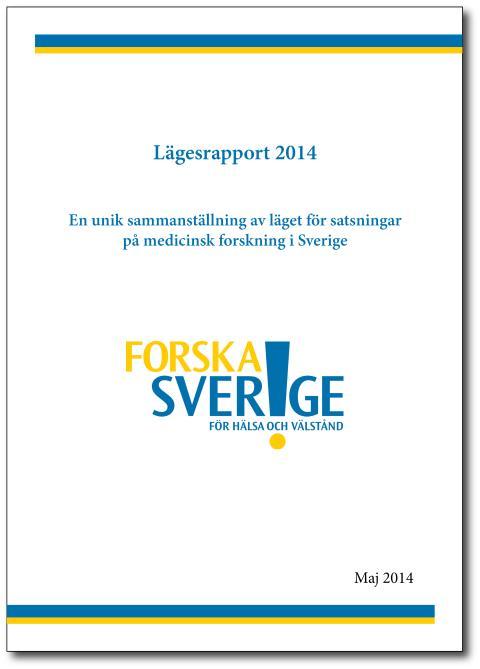 Lägesrapport 2014: Oron för minskad forskning i Sverige är berättigad