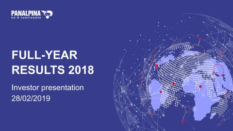Full-Year Results 2018 – Investor Presentation