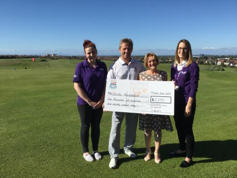 ​Blackpool North Shore golf club raises £1,670 for the Stroke Association